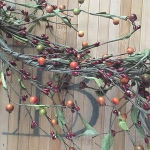 Fall color berry garlands